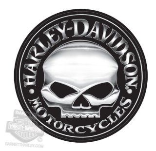 Harley Davidson Willie G Skull Extra Large Vinyl Trailer Decal: Automotive