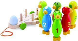 Hape 702827   Safari Bowling, Ecoline, aus Holz Spielzeug