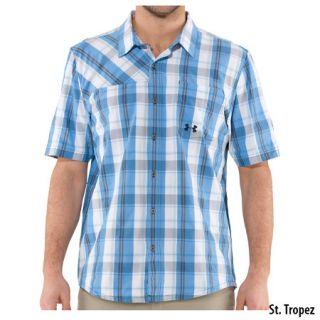 Under Armour Mens Range Plaid Short Sleeve Shirt 698235