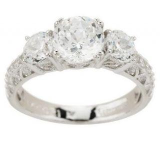Tacori IV Diamonique Epiphany Bloom Cut 3 Stone Ring —