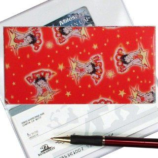 Betty Boop Checkbook Cover STARS RED   Wallets