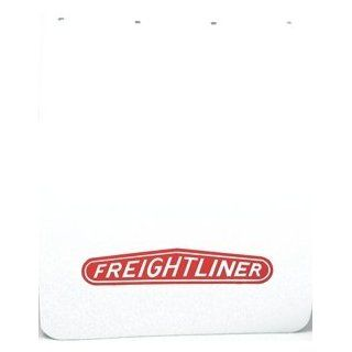 "Freightliner Semi Truck Logo 24"" x 30"" White Polyurethane Mud Flaps Pair: Automotive"