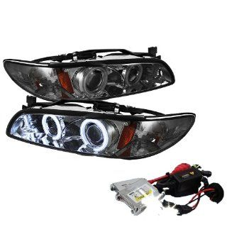 High Performance Xenon HID Pontiac Grand Prix 1PC CCFL Projector Headlights with Premium Ballast   Black with 10000K Deep Blue HID Automotive