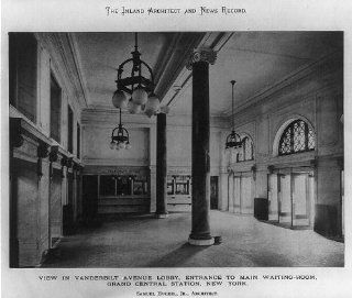 Grand Central Station, NY, Vanderbilt Ave Lobby, 1901   Prints