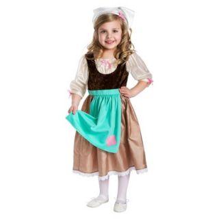 Little Adventures Cinderella Day Dress w/ Head Scarf S