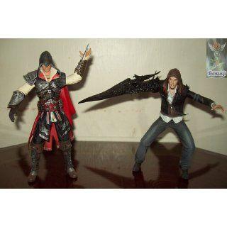 NECA Assassins Creed 2 Series 1 Action Figure Black Ezio Black Cloak: Toys & Games