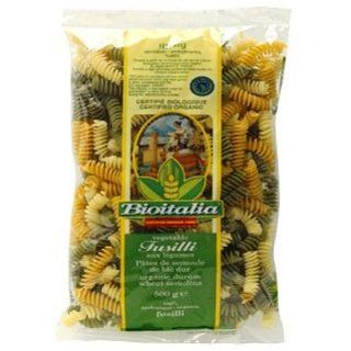 Bioitalia Fusilli Tricolore Pasta, 17.6 Ounce (Pack of 6)  Grocery & Gourmet Food