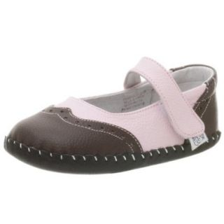 pediped Originals Samantha Mary Jane (Infant),Pink/Brown,Small (6 12 Months) Shoes
