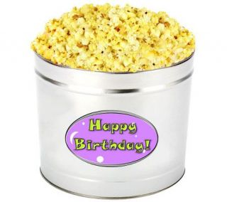 Popcorn Palace Happy Birthday Butter Tin —