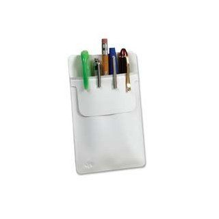 Esselte Pendaflex Corporation Products   Pocket Protector, Vinyl, 3/PK, White   Sold as 1 PK   Oxford Pocket Protector keeps writing instruments right where you need them. Holds pens, pencils, markers, and more. Prevents ink or lead from staining clothing.
