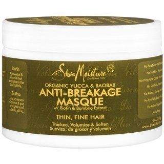 Shea Moisture Organic Yucca & Baobab Anti Breakage Masque 12 oz : Hair Styling Creams : Beauty
