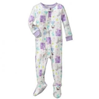 """Carter's Baby Girls One Piece Cotton Knit """"Fairy Tale"""" Footed Sleeper Pajamas (12 Months) Clothing"""