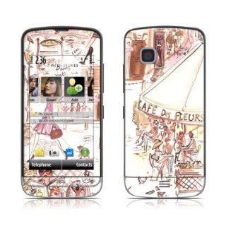 Paris Makes Me Happy Design Protective Skin Decal Sticker for Nokia C5 Cell Phone: Cell Phones & Accessories