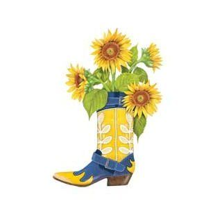 Mary Lake Thompson Ltd. Boot with Sunflower Flour Sack Towels Set of 2   Kitchen Linens