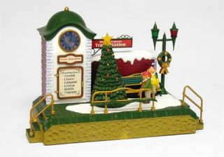 New Bright Holiday Express Animated Musical Train Station —