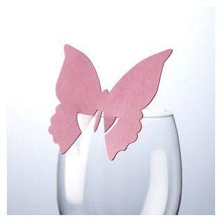 Tischkarte 10 St�ck   Schmetterling f�r Glas hot pink   zu allen Feierlichkeiten wie z.B.Geburtstag oder Hochzeit: Spielzeug
