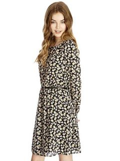 Oasis Ditsy Viscose Dress Multi Coloured