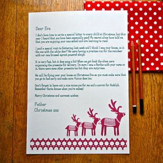 christmas personalised letter from santa by evajeanie