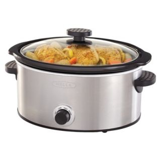 Bella 5QT Manual Slow Cooker, Stainless Steel