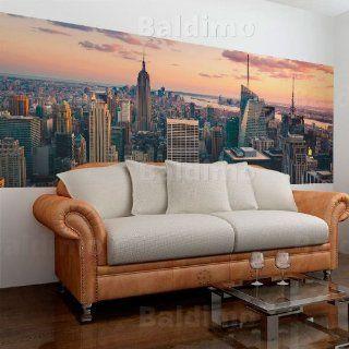 Wand Bilder Panels XXL & Top Deko Tapete & Panorama + New York + Vlies Fototapete 227x100 1101 10 Küche & Haushalt