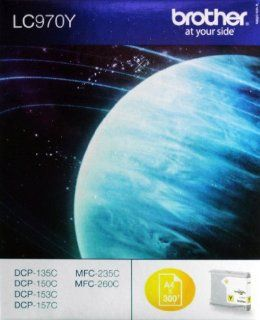 Brother LC 970Y Tinte gelb 300 Seiten DCP 135 / 150 MFC 235 / 260: Bürobedarf & Schreibwaren