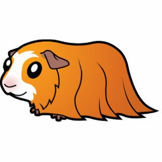 Cartoon Guinea Pig (red crested) Acrylic Cut Outs