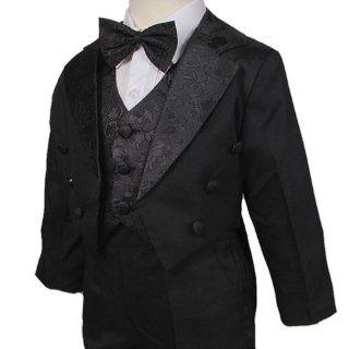 D257 2 Neu Jacquard Junge Taufanzug Taufe Hochzeit Smoking Anzug 5tlg (Gr.80/86): Baby