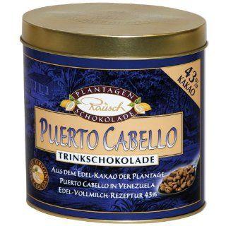 Rausch Trinkschokolade Puerto Cabello Edel Vollmilch, 250 g, Kakao: 43 %, 1er Pack (1 x 250 g): Lebensmittel & Getr�nke