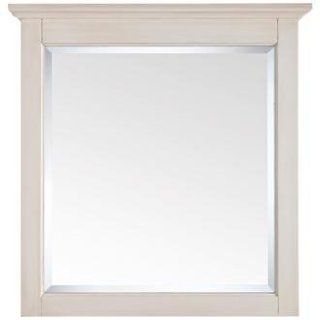 """Tropica Antique White 32"""" High Vanity Wall Mirror   Wall Mounted Mirrors"""