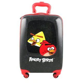 Angry Birds Hardshell Spinner Rolling Luggage Case [Black] Toys & Games