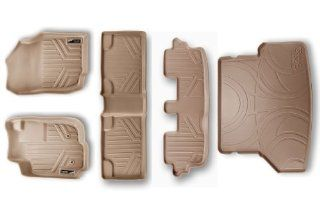 Maxliner MAXFLOORMAT Complete Set Custom Fit All Weather Floor Mats For Select Toyota Fortuner Models   (Tan) Automotive
