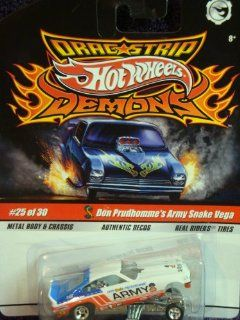 Hot Wheels Dragstrip Demons Don Prudhomme's Authentic Decos Army Snake Vega Real Rider Tires Extreme Detail Diecast Scale 1/64 Collector: Toys & Games
