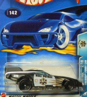 Hot Wheels 2003 164 Scale Roll Patrol Black & White Pontiac Firebird Funny Car Police Die Cast Car #142 Toys & Games