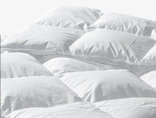Highland Feather Manufacturing 45 Ounce Santa Barbara Goose Down Duvet, Super King, White   Comforters