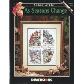 As Seasons Change   Counted Cross Stitch Pattern   Dimensions #303: Karen Avery: 0088677003036: Books