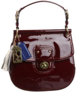 Coach Patent Leather New Willis Convertible Crossbody Bag 21244 Crimson Red Cross Body Handbags Shoes