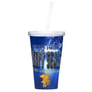 Navy Seals Drink Tumbler Navy Seals Mugs Navy Gifts US Navy Seals 16OZ (SEALS11)