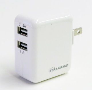 Tera Grand   Dual Port USB 3.4A 17W Wall Charger   Ultra High Speed Charge 2.4A + 1A Computers & Accessories