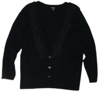 Nine West Women's Monte Bianco Sweater, Size 2X, Black