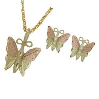 Black Hills Gold Butterfly Jewelry Set: Jewelry