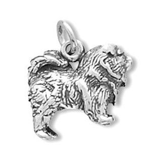 Sterling Silver Dog Breed   Chow Charm: Jewelry