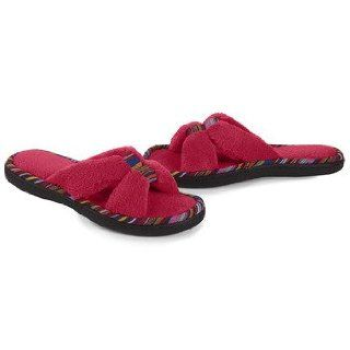 Isotoner Women's Cabanas Microterry Safari X Slide Slippers: Shoes