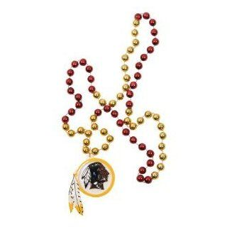 Washington Redskins NFL Bead Necklace with Team Medallion  Sports Fan Necklaces  Sports & Outdoors
