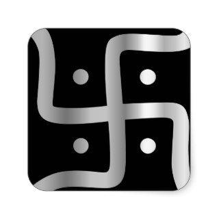 Swastika Symbol of Jainism religion Stickers