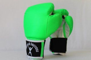 Neon Green Color Boxing Gloves for Kids 4oz size  Training Boxing Gloves  Sports & Outdoors