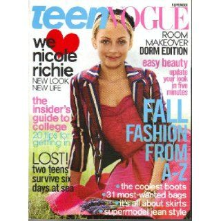 Teen Vogue Magazine (September, 2005): Nicole Richie on Cover: Teen Vouge: Books