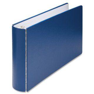 "Wilson Jones 346 Line Casebound DublLock Ring Binder, 2 inch Capacity, 11"" x 17"" Sheet Size, Blue (W346 90NB)  Office D Ring And Heavy Duty Binders"