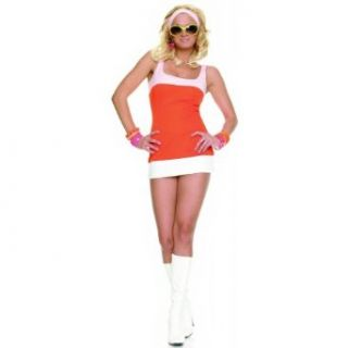 Sexy Mod Girl Halloween Costume Medium/Large 7 10: Adult Sized Costumes: Clothing