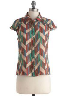 Craft My Drift Top  Mod Retro Vintage Short Sleeve Shirts