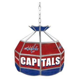Nhl Washington Capitals Stained Glass Tiffany Lamp Toys & Games